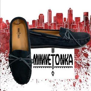 Minnetonka men's black suede Marcussen size 11